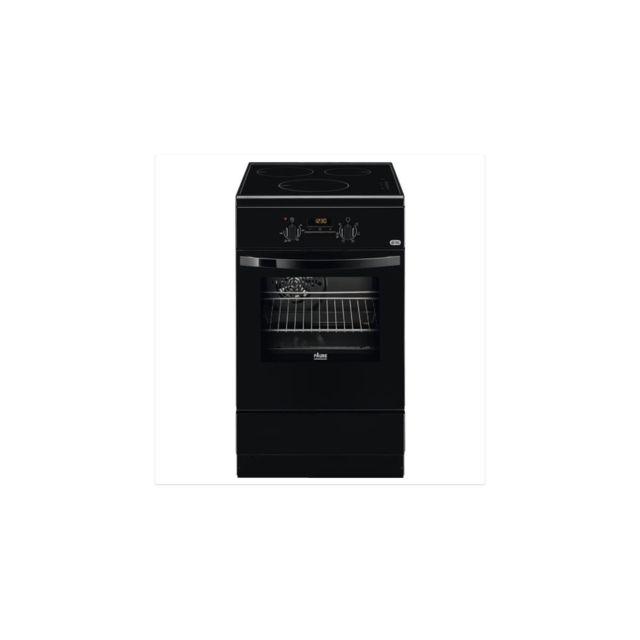 Faure Fci57301ba - Cuisiniere 50x60 - Induction 3 Foyers - Four Electrique Catalyse - Chaleur Tournante Pulsee - Noir