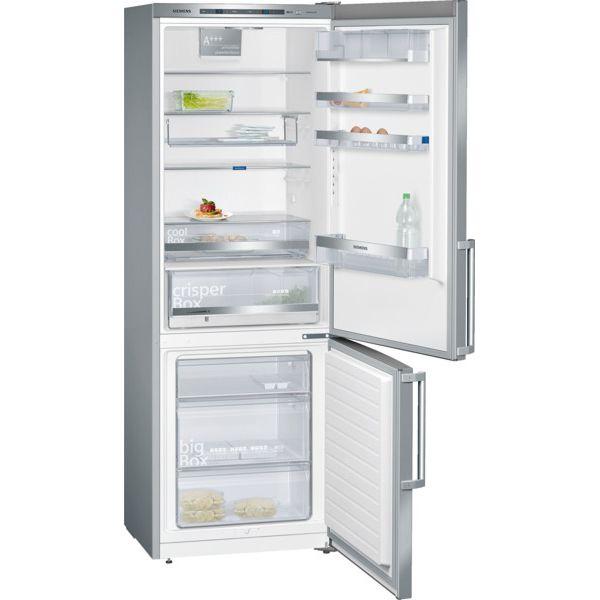 SIEMENS - réfrigérateur combiné 70cm 407l a+++ brassé finition inox - kg49ebi40