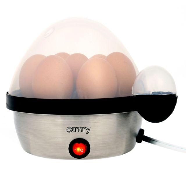 Camry Cuiseur électrique pour 7 oeufs, acier inoxydable, réglage de la cuisson Cr4482