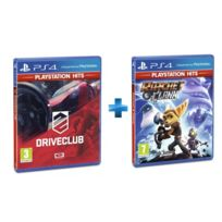 SONY - 2 jeux PS4 HITS : DRIVECLUB + RATCHET & CLANK
