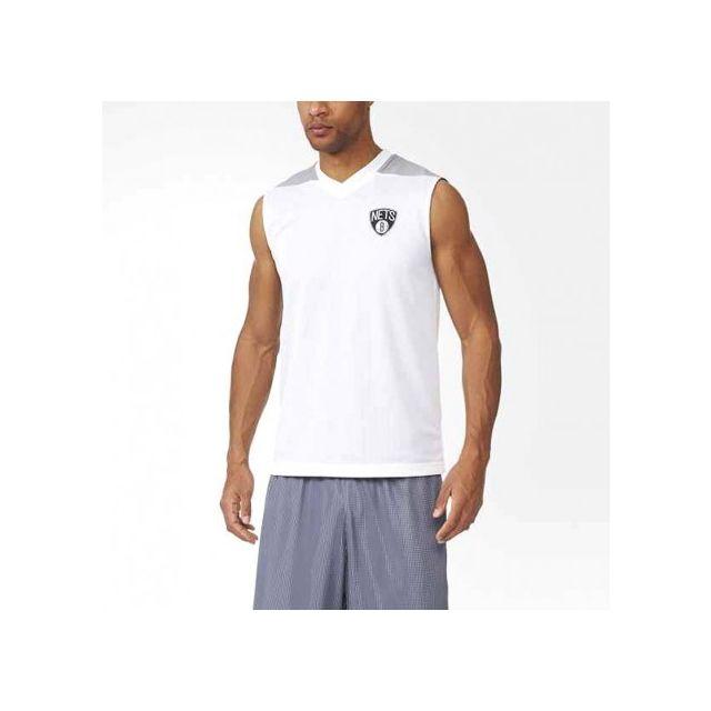 Adidas originals - Maillot Réversible Brooklyn Nets Basketball Blanc Homme Adidas