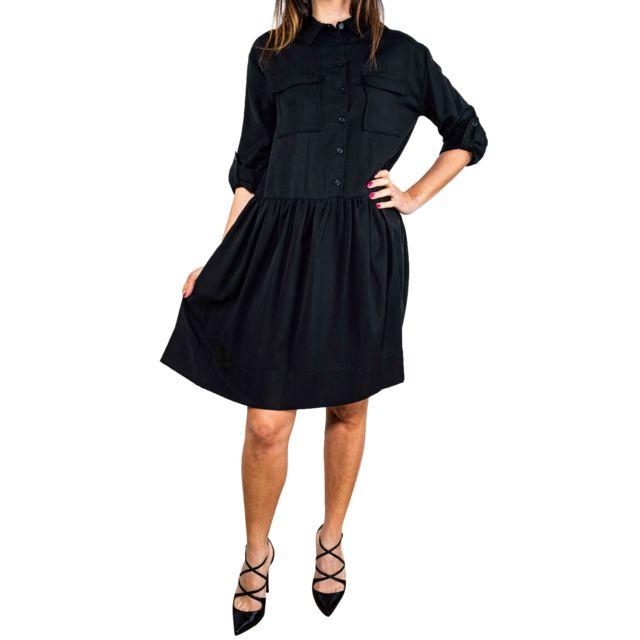 Dixie Femme Ads9HDR0003 Noir Tissu Robe