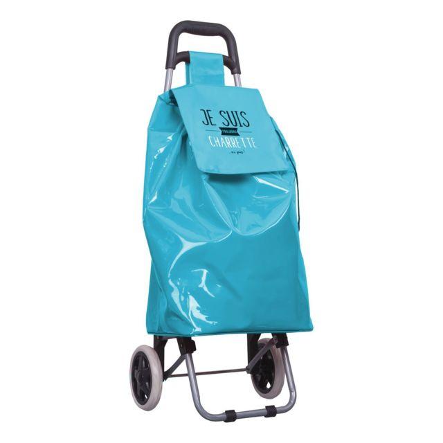 Dites Le Avec Les Mots - Chariot shopping 2 roues Je suis - 50 L - Bleu