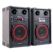 SKYTEC - Fenton SPB-8 Pack Enceintes Sono Amplifié Subwoofer 20cm 400W
