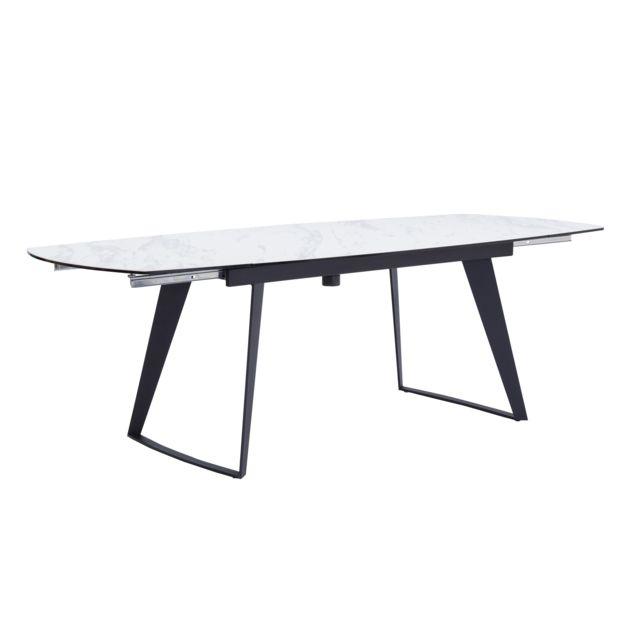 Rendez Vous Deco Table extensible rectangulaire Donna blanche 160/230cm