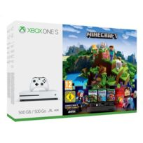 Pack Xbox One S 500Go Minecraft + 3M LIVE