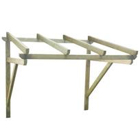 Rocambolesk - Superbe Auvent de porte en bois 150 x 150 x 160 cm neuf