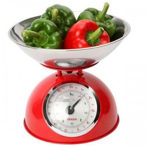 Artemio Balance mécanique Rétro maximum 5 kg avec bol inox 2 litres - Rouge
