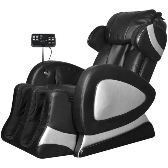 Vidaxl Fauteuil de Massage Electrique Cuir Artificiel Relaxation Salon Maison