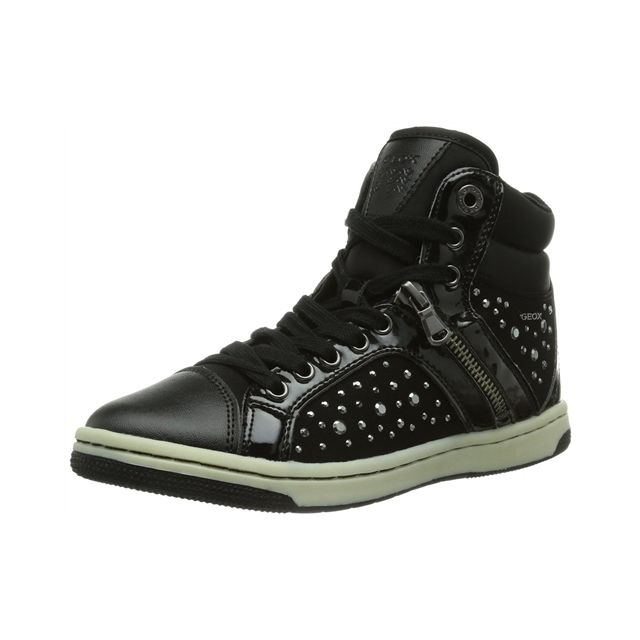 Jr Witty Fille Sneakers Noir Geox | Chaussure pas cher