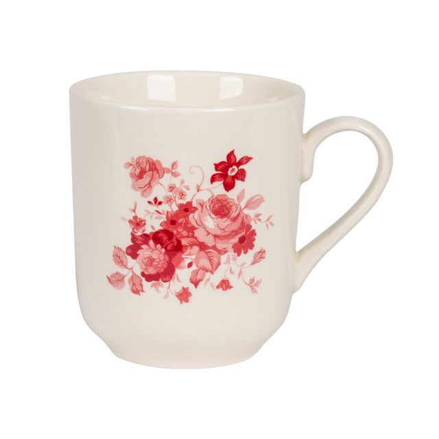 table passion mug 37 cl lilly rose lot de 6 blanc pas cher achat vente mug rueducommerce. Black Bedroom Furniture Sets. Home Design Ideas