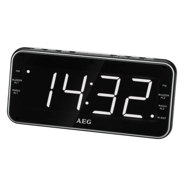 Aeg Clock Radio Mrc 4157 black Aeg Clock Radio Mrc 4157 black