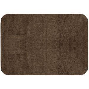 promobo grand tapis de salle de bain coton molletonn design city weng 50 x 70cm marron pas. Black Bedroom Furniture Sets. Home Design Ideas