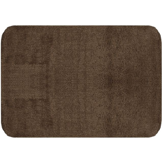 promobo grand tapis de salle de bain coton molletonn design city weng 50 x 70cm marron pas. Black Bedroom Furniture Sets. Home Design Ideas