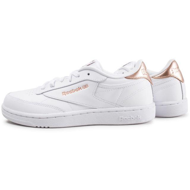 Reebok Club C blanche et or junior Chaussures Enfant
