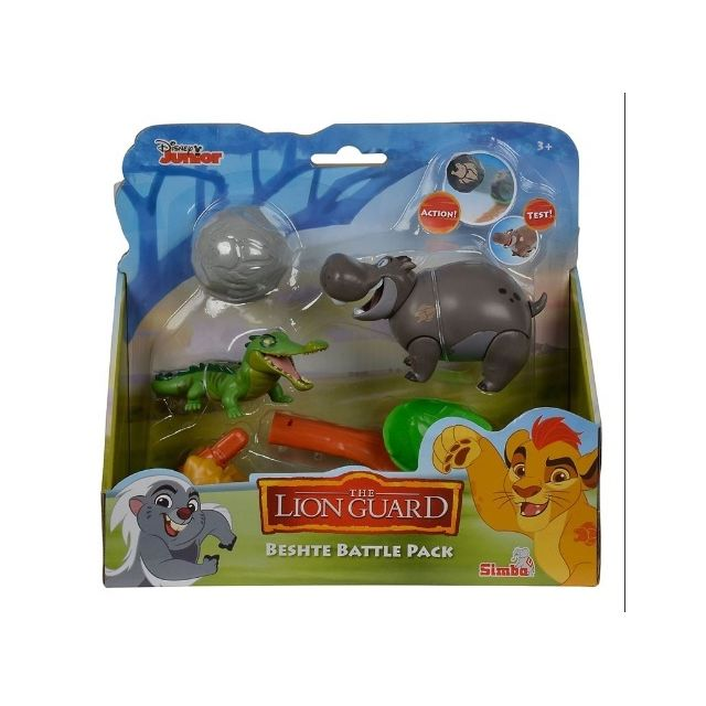 Simba Coffret Disney : Hippopotame Beshte Et Le Crocodile Makuu - La Garde Du Roi Lion - Animaux - Figurine