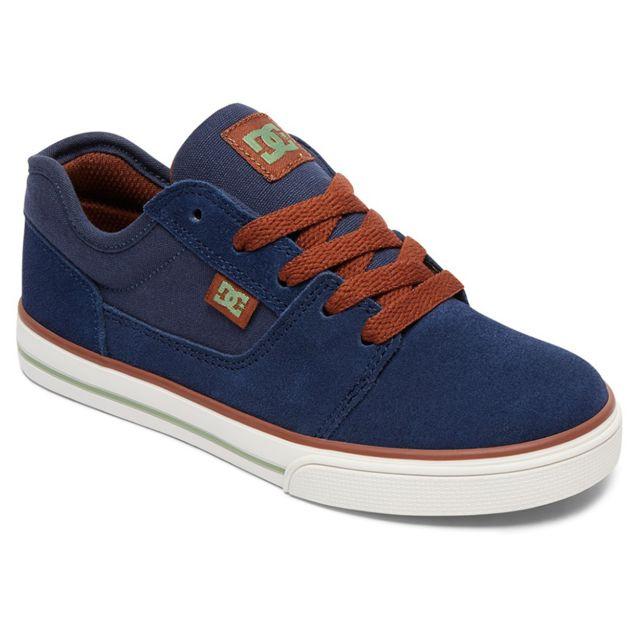 46ef92f4b5765 Dc - Shoes Tonik B Chaussure Garçon - Taille 32 - Bleu - pas cher Achat    Vente Baskets enfant - RueDuCommerce