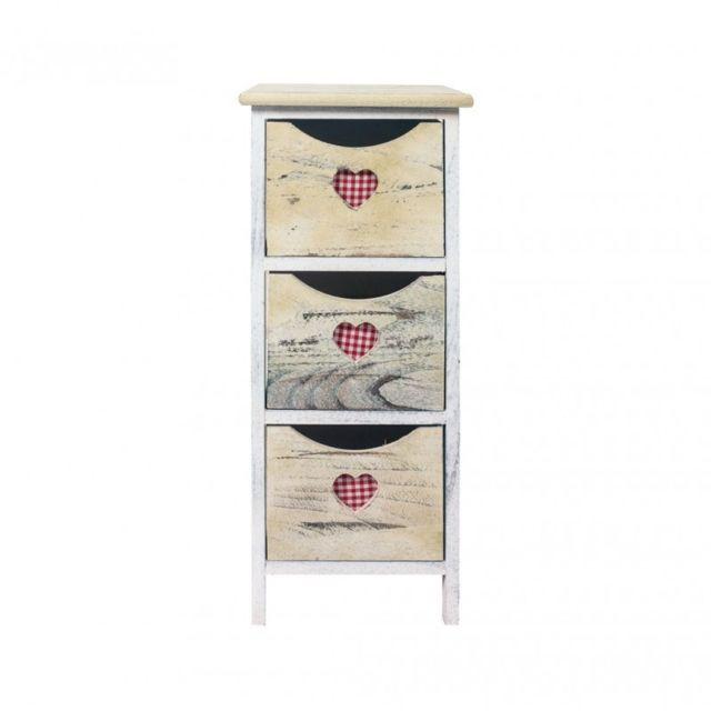 mobili rebecca table de nuit chevet 3 tiroirs bois blanc beige retro sejour blanc eige pas cher achat vente chevet rueducommerce