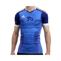 288aee0f26eb Adidas - HB FK TECHFIT M BLE - Maillot Handball France Homme Multicouleur  XXL