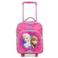 Frozen - Sac à dos Roulettes Trolley Reine des neiges, Rose - 35cm - Fille