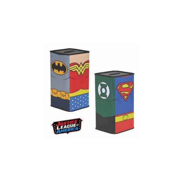 Kas Design Tirelire Métallique Justice League