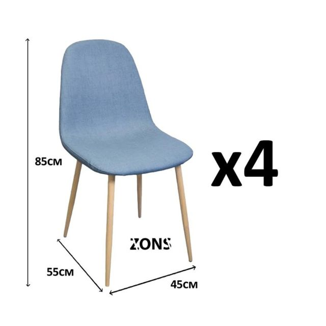 Zons Lot De 4 Chaise Salle A Manger Scandinave Anti Tache Design