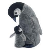 Wwf - 15189003 - Peluche - Maman Pingouin avec Bébé - 30 cm