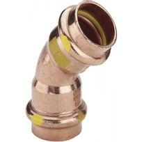 Viega - Coude cuivre 45° femelle / femelle à sertir Ø 28 spécial Gaz