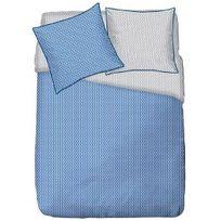 Finlandek - Chambre - Finlandek Parure de couette Iceberg 100% coton - 1 housse de couette 240x260 cm + 2 taies d'oreillers 63x63 cm bleu
