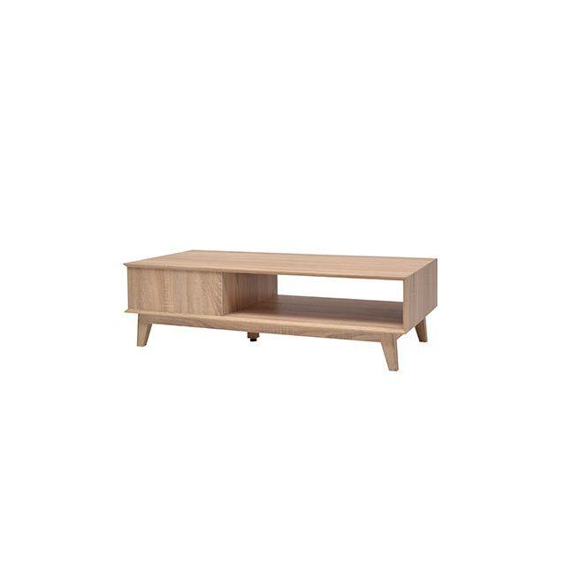 Table basse 150x45x45cm décor chêne