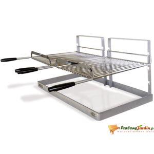 delta double grille et support pour chemin e ou barbecue pas cher achat vente accessoires. Black Bedroom Furniture Sets. Home Design Ideas