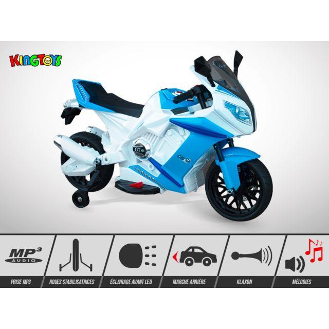Kingtoys Moto électrique enfant - Zr-1000 18W - Rouge
