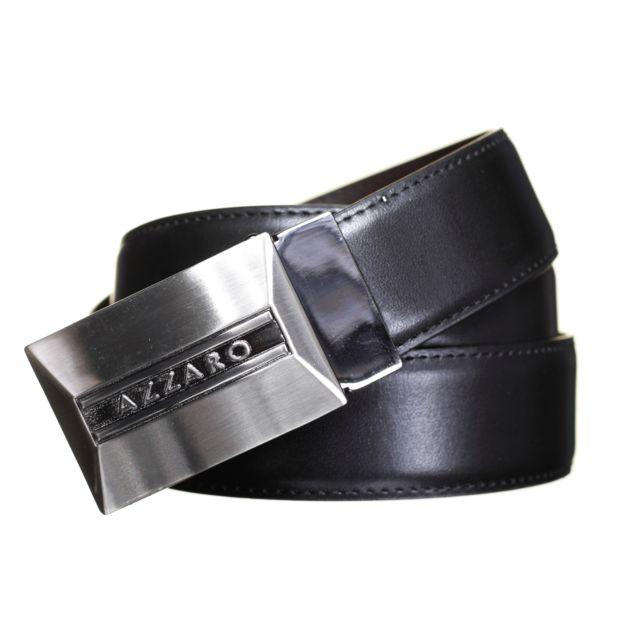 d083bbd1822 Azzaro - Ceinture Large 91035 Reversible Noir Marron - pas cher Achat   Vente  Ceinture homme - RueDuCommerce