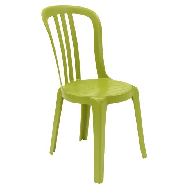 Grosfillex - Chaise de Jardin Miami Bistrot Vert Anis - pas ...