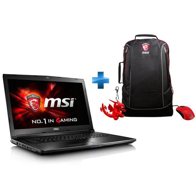 MSI - GL72 7QF-1031XFR - Noir + Pack GE : Sac à dos + Porte-clé Dragon + Souris Gaming