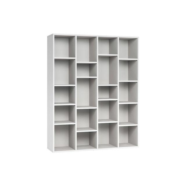 Miliboo Bibliothèque design en bois blanc Rythm