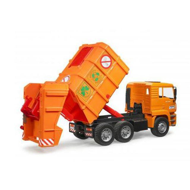 Bruder 02760 Man Tga Orange, camion poubelles