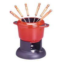 INVICTA - service à fondue standart rouge rubis - 1003034