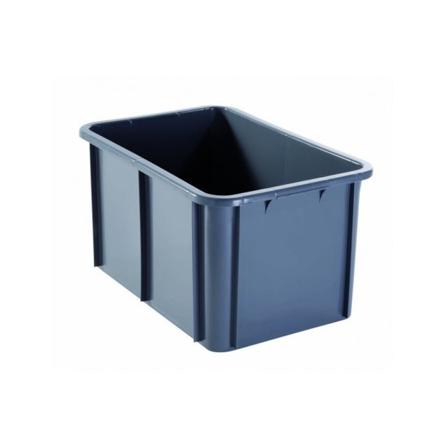 Gilac Bac Rectangulaire Empilable 55 Litres Gris