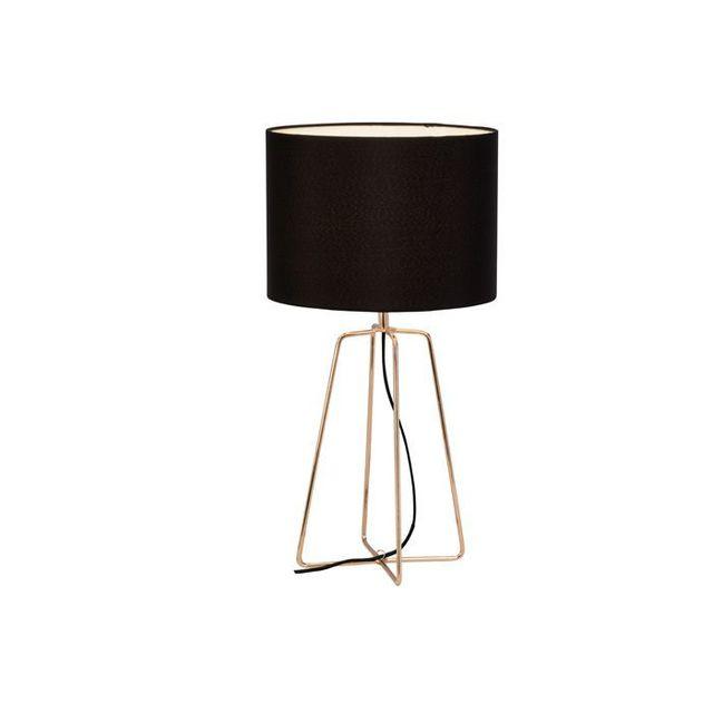 Brilliant Lampe A Poser Grigory 60w E27 Noir Cuivre 94905 76 Pas