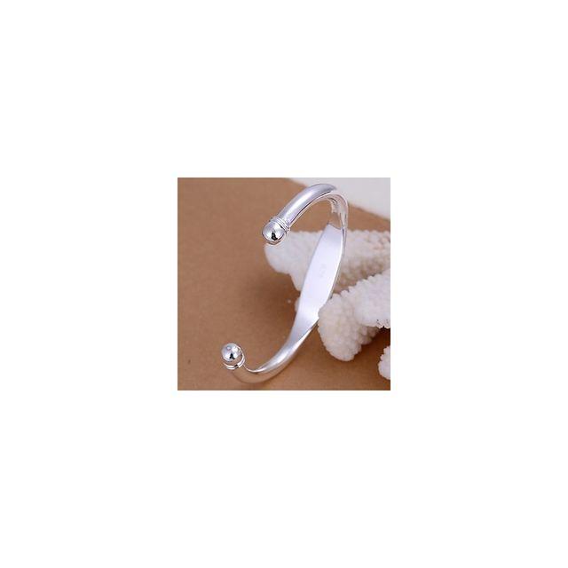 5aa115cf2f720 Alpexe - Bracelet plat pour homme en acier inoxydable argenté - pas cher  Achat   Vente Bracelets - RueDuCommerce