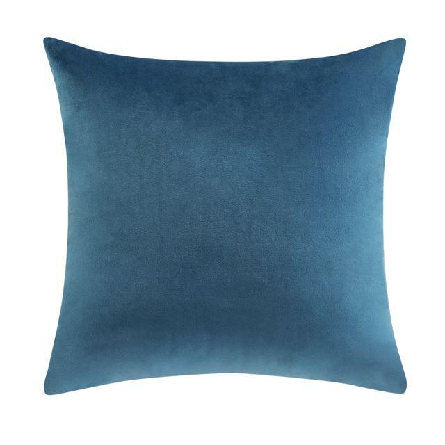 TEX HOME - Coussin velours en polyester Vert - 30cm x 40cm