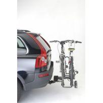 Mottez - Porte-vélos sur attelage Pliable pour 2 vélos Montage immédiat sur la boule d'attelage Charge maximale 30 Kgs Poids du porte-vélos: 15 Kgs - Compacte : la plateforme se plie en 2 et l'arceau sur lequel sont posés les vélos sert de poi