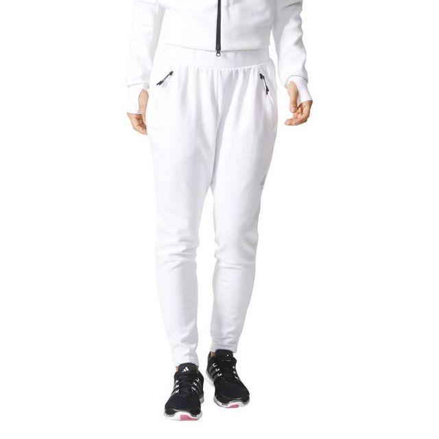 Adidas - Pantalon zne Blanc - XS - pas cher Achat   Vente Pantalons,  caleçons - RueDuCommerce a482f732bace