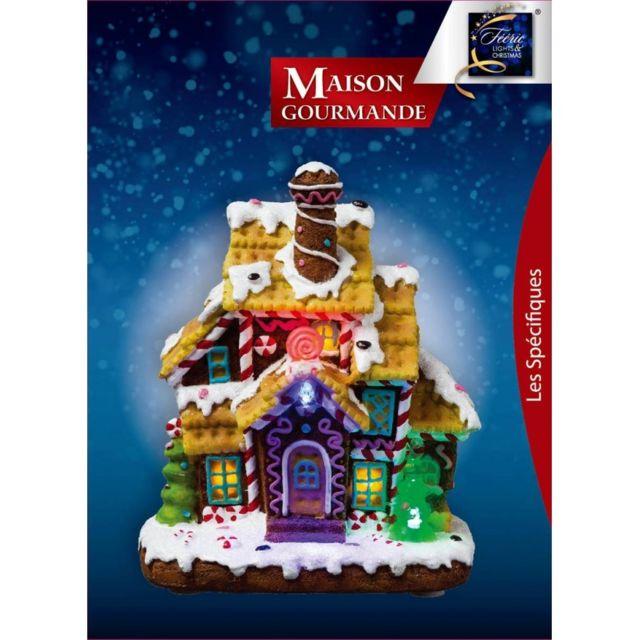 Jja - Maison gourmande et lumineuse de Noël Led modèle sucette