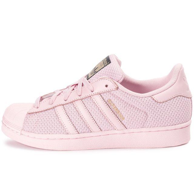 0ca0ee536be96 Adidas originals - Superstar Nylon Junior Rose - pas cher Achat ...