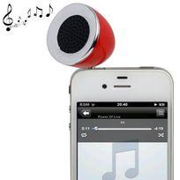 Yonis - Mini enceinte portable jack 3.5 Mp3 Smartphone Tablette Rouge