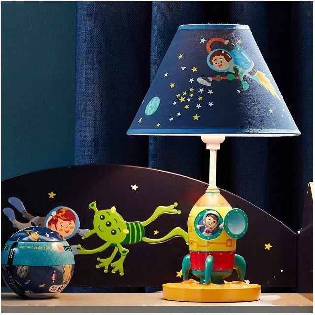Lampe enfant Outer Space chevet bureau veilleuse chambre bébé garçon TD 12335AE