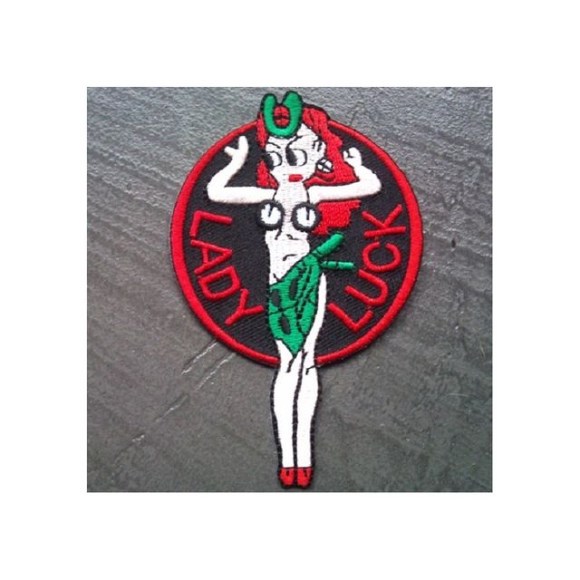 Universel - Patch lady luck chance pin up hot rod kustom ecusson - pas cher  Achat   Vente Objets déco - RueDuCommerce f88a4ec52fa