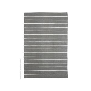 Akhal - Tapis en plastique tissé rendu coton rayures Eastport - Gris - 160x230cm